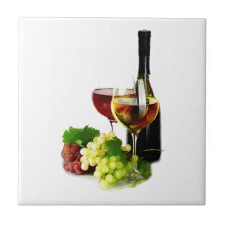 De Druiven van de wijn Tegeltje