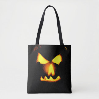 De Druk Halloween van het Gezicht van de Lantaarn Draagtas