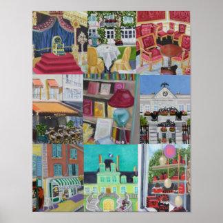 De Druk/het Poster van de Collage van Fontaineblea