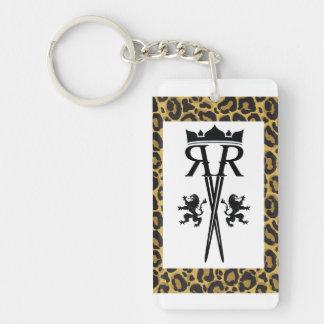 De Druk Keychain van de Luipaard van het Logo van Sleutelhanger