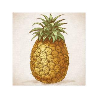 De druk van de ananas canvas afdrukken