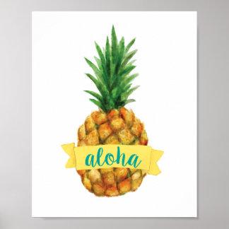 De Druk van de Ananas van Aloha Poster