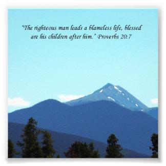 De Druk van de Berg van het Heilige Schrift van he Foto Afdruk