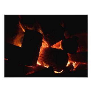 De Druk van de Foto van de Kuil van de brand