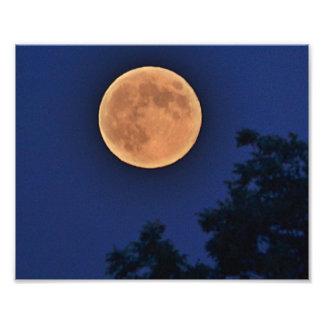 De Druk van de Foto van de Maan van de zomer