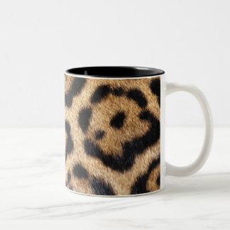 De Druk van de Foto van het Bont van Jaguar Tweekleurige Koffiemok