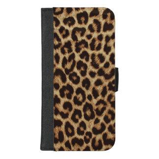 De Druk van de Huid van de Luipaard van de luxe iPhone 8/7 Plus Portemonnee Hoesje