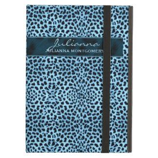 De Druk van de jachtluipaard in Grote Blauwe iPad Air Hoesje