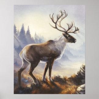 De Druk van de kariboe Poster