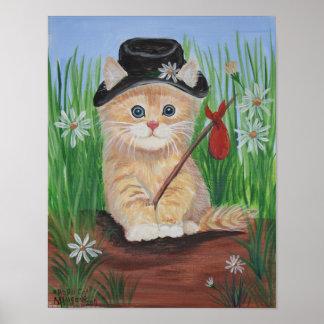 De Druk van de Kat van de zwerver Poster