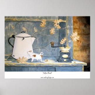 """""""De Druk van de Koffiepauze"""" Poster"""