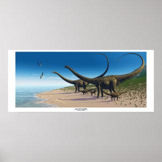 De Druk van de Kudde van Diplodocus Poster