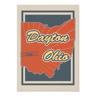 De Druk van de Kunst van Dayton, Ohio - het 12,7x17,8 Uitnodiging Kaart
