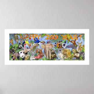 De Druk van de Kunst van de Muur van de gelukkige Poster