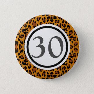 De Druk van de luipaard Ronde Button 5,7 Cm