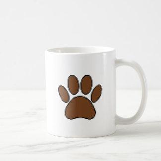 De Druk van de Poot van de Hond van het pixel Koffiemok