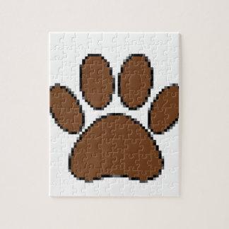 De Druk van de Poot van de Hond van het pixel Legpuzzel