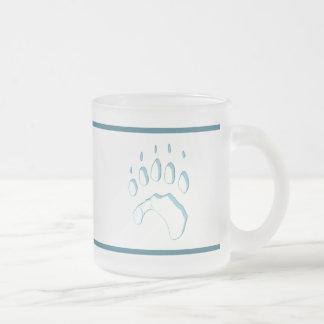 De Druk van de Poot van de Ijsbeer Matglas Koffiemok
