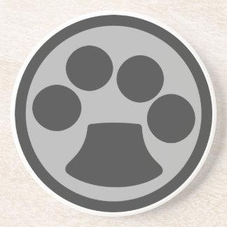 De Druk van de Poot van de Kat van het kat Zandsteen Onderzetter