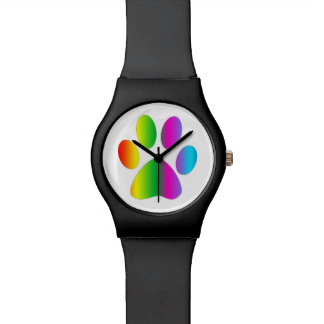 De Druk van de Poot van de regenboog Horloge