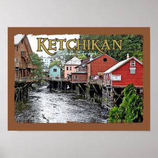 De Druk van de Portefeuille van Ketchikan Poster