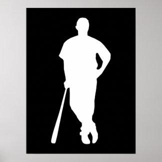De Druk van de Speler van het honkbal Poster