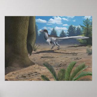 De Druk van de Sporen van de roofvogel Poster