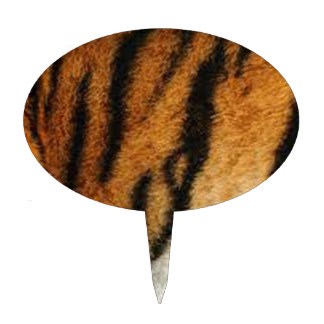 De druk van de tijger taart prikker