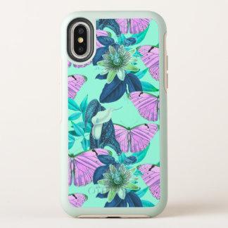 """De Druk van de Vlinder van de """"goede Stemming"""" OtterBox Symmetry iPhone X Hoesje"""