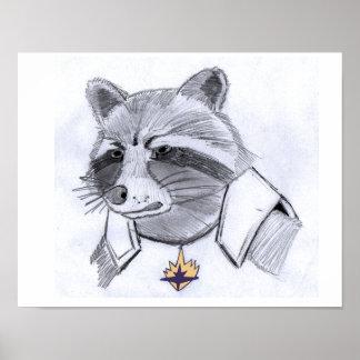 De Druk van de Wasbeer van de raket Poster
