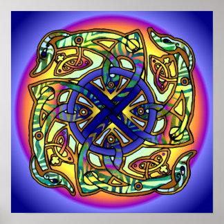 De Druk van de Zondag van het Wiel van de hersensc Poster