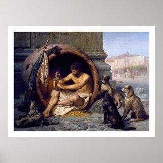 De Druk van Diogenes & van het Poster van Honden
