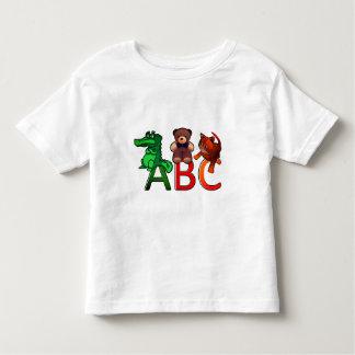 De Druk van het Alfabet van ABC van de Dieren van Kinder Shirts