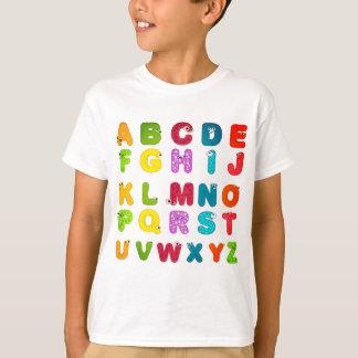 De Druk van het Alfabet van de Brieven van de T Shirt