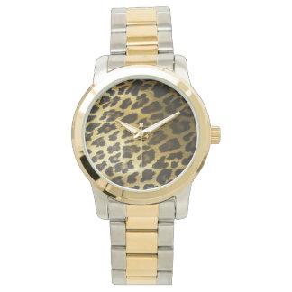 De Druk van het Bont van de luipaard Horloge