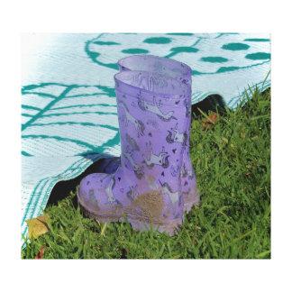 De Druk van het canvas - de Laarzen van de Regen