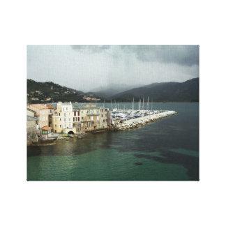 De Druk van het canvas - heilige-Florent, Corsica