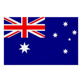 De Druk van het canvas met Vlag van Australië Poster