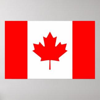 De Druk van het canvas met Vlag van Canada Poster