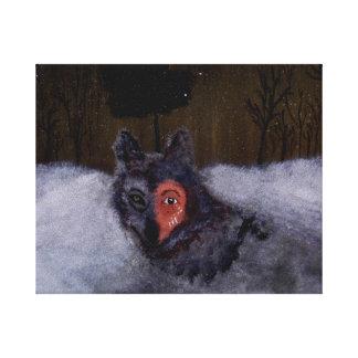 De Druk van het Canvas van Bravewolf Stretched Canvas Print