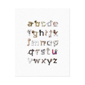 De Druk van het Canvas van het Alfabet van de hond