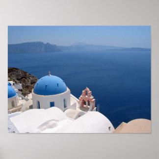 De Druk van het Canvas van Santorini Poster