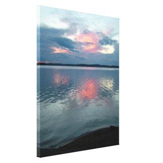 De druk van het de douanecanvas van de Zonsonderga Canvas Prints