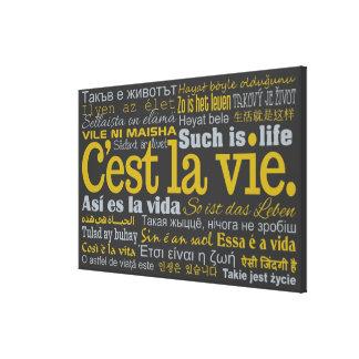 De druk van het de douanecanvas van La Vie van Canvas Print
