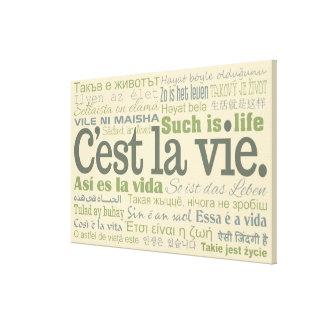 De druk van het de douanecanvas van La Vie van Gallerij Wrap Canvas