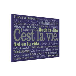 De druk van het de douanecanvas van La Vie van Gallerij Wrapped Canvas
