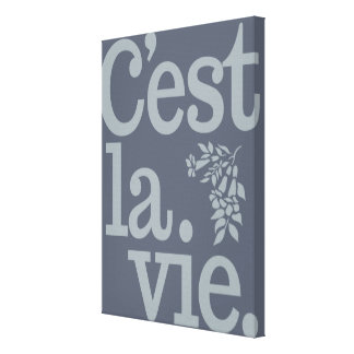 De druk van het de douanecanvas van La Vie van Stretched Canvas Afdruk