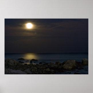 De Druk van het Maanlicht van wittebroodsweken Poster