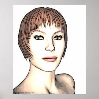 De Druk van het Meisje van de glamour Poster