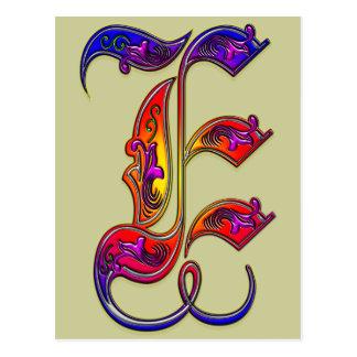 De Druk van het Monogram van het Alfabet van de Briefkaart